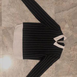 Preppy striped collared sweater